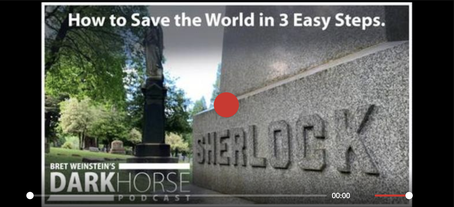 How to save the world, in three easy steps.